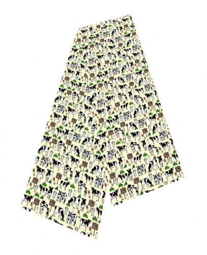 Selina-Jayne Cows Limited Edition Designer Silk Scarf